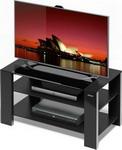 Подставка, стойка, полка для телевизора и аппаратуры  Alteza  Albero TV-2783 черное стекло