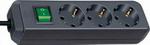 Стабилизатор напряжения, сетевой фильтр или ИБП  Brennenstuhl  Eco-Line 3м 3 роз/заземл черный (1152300400)