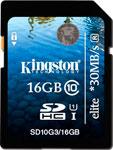 Карта памяти  Kingston  SDHC 16 Gb Class 10 (SD 10 G3/16 GB)