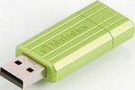 Флеш-накопитель  Verbatim  16 Gb PinStripe 49070 USB2.0 зеленый