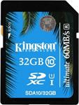 Карта памяти  Kingston  SDHC 32 Gb Class 10  SDA 10/32 GB UHS-I 60/35