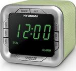 Радиоприемник и радиочасы  Hyundai  H-1505 (салатовый с зеленым)