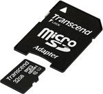 Карта памяти  Transcend  micro SDHC 32 Gb TS 32 GUSDU1 + adapter