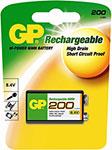 Батарейка, аккумулятор и зарядное устройство  GP  200 mAh (крона)