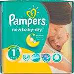 Подгузник  Pampers  New Baby-Dry Newborn 2-5 кг 1 размер 27 шт
