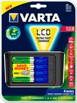 Батарейка, аккумулятор и зарядное устройство  VARTA  LCD Fast Charger+4x 2400 mAh+12 V (57675101441)