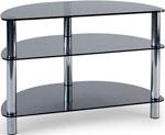 Подставка, стойка, полка для телевизора и аппаратуры  Metaldesign  MD 404 SLIM  хром - дымчатое стекло