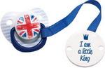 Соска для бутылочек, соска-пустышка и зубопрорезыватель  Happy Baby  LITTLE QUEEN & LITTLE KING 13005 Blue