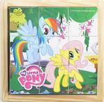Деревянная игрушка  Играем Вместе  My little pony 9 кубиков