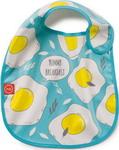 Нагрудник и слюнявчик  Happy Baby  WATERPROOF BABY BIB X1 16009 BLUE (яичница)