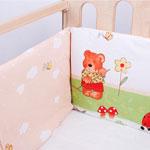 Бампер и бортик для кроватки  Idea Kids  Садовники