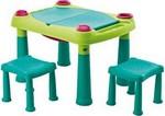 Стол и стул  Keter  Creative Play Table (2 стула) светло-зелёный
