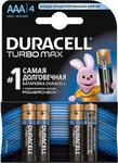 Батарейка, аккумулятор и зарядное устройство  Duracell  LR 03/MX 2400-4BL TURBO MAX AAA