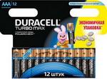 Батарейка, аккумулятор и зарядное устройство  Duracell  LR 03/MX 2400-12 BL TURBO MAX AAA