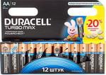 Батарейка, аккумулятор и зарядное устройство  Duracell  LR6/MX 1500-12 BL TURBO MAX AA