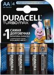 Батарейка, аккумулятор и зарядное устройство  Duracell  LR6/MX 1500-4BL TURBO MAX AA