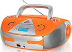 Магнитола  BBK  BX 325 U оранжевый /серебро