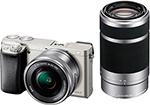 Фотоаппарат  Sony  Alpha ILCE-6000 Kit 16-50 PZ+ 55-210 титановый