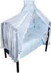 Комплект постельного белья  Золотой Гусь  Сабина 7 предметов 100% хлопок (голубой)