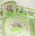 Комплект постельного белья  Золотой Гусь  Слоник Боня 7 предметов 100% хлопок (зеленый)
