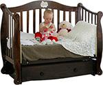 Детская кроватка  Можга Красная Звезда  Валерия С707 шоколад