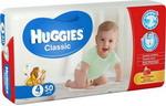 Подгузник  Huggies  CLASSIC Размер 4 7-18кг 50шт