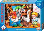 Настольная развивающая и обучающая игра  Десятое Королевство  Гуси лебеди (20 деталей)