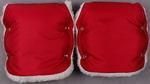 Аксессуар  Еду-Еду  раздельная, на коляску, плащевая ткань, натуральный мех, синтепон, зима красный
