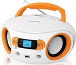 Магнитола  BBK  BS 15 BT белый/оранжевый