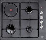 Встраиваемая комбинированная варочная панель  MBS  PG-641 Black