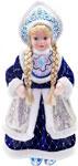 Кукла  Новогодняя сказка  Снегурочка 43 см под елку, синяя (972400)