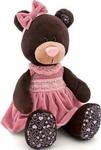 Мягкая игрушка  Оранж  Медведь Milk сидячая (в розовом бархатном платье 25 см)