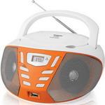 Магнитола  BBK  BX 193 U белый/оранжевый