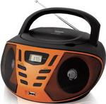 Магнитола  BBK  BX 193 U черный/оранжевый