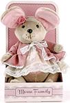 Мягкая игрушка  Fluffy Family  Мышка шарнирная Lady mouse Розочка  в пальто