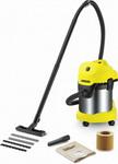 Строительный пылесос  Karcher  WD 3 Premium желтый