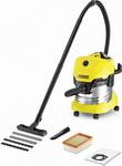Строительный пылесос  Karcher  WD 4 Premium желтый