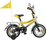 Велосипед детский  Novatrack  12, R, TAXI черный/желтый