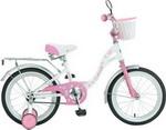 Велосипед детский  NOVATRACK  16 BUTTERFLY бело-розовый