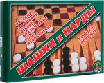 Настольная развивающая и обучающая игра  Десятое Королевство  ШАШКИ / НАРДЫ БОЛЬШИЕ
