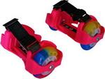 Роликовые коньки  Moby Kids  2 колеса, свет, розовые
