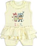 Повседневная одежда  Idea Kids  Совята, для девочки, 100% хлопок, кулиска, Рт.74, Желтый 0007св