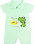 Повседневная одежда  Idea Kids  Happy Monster с коротким рукавом, для мальчика, 100% хлопок, кулиска, Рт.74, Зеленый 0005хм