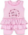 Повседневная одежда  Idea Kids  Best Friends, для девочки, 100% хлопок, кулиска, Рт.68, Розовый 0005лд