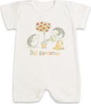 Повседневная одежда  Idea Kids  Ежики в саду, с коротким рукавом, 100% хлопок, кулиска, Рт.74, Экрю