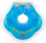 Надувной круг и нарукавник  Baby Swimmer  голубой (полуцвет) BS 02 B