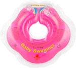 Надувной круг и нарукавник  Baby Swimmer  розовый (полуцвет) BS 02 P