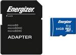 Карта памяти  Energizer  64 GB MicroSDXC class 10 UHS-I U3 Ultimate с адаптером