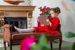 Праздничная одежда  ХоумАпплайнс  рост 128 красный