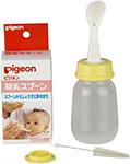 Посуда для детей  Pigeon  Бутылочка с ложечкой для кормления 4+ мес 120 мл
